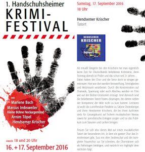 Flyer 1.Handschuhsheimer Krimifestival